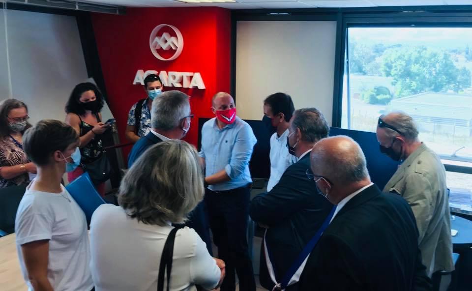 Agarta reçoit Cédric O., secrétaire d'état chargé de la transition numérique et des communications électroniques